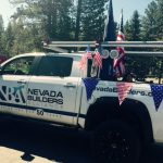 Nevada Builders Mascot all dressed up
